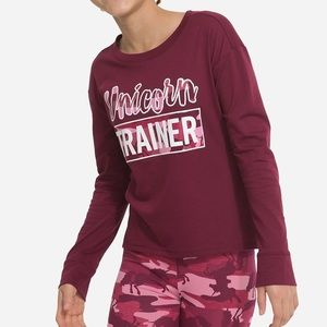 NWT Justice Glitter Graphics Sleeve Shirt Top 7